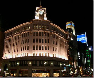 銀座4丁目交差点 和光の時計塔復活 photo by OptioS