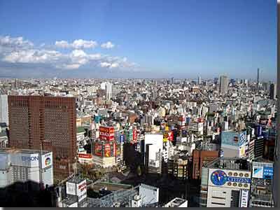 新宿エルタワー30階からの眺め(新宿駅側) photo by OptioS