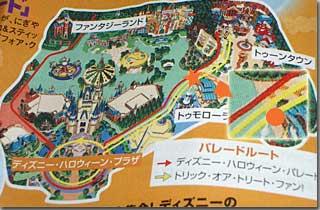 パレードのルートマップ photo by OptioS
