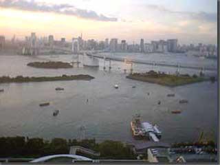 フジテレビの24階コリドールからの風景 photo by PEG-TH55