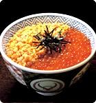 吉野家オフィシャルページのいくら鮭丼