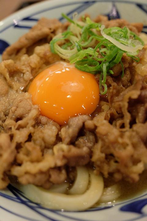 丸亀製麺 牛すき釜玉 牛すき月見