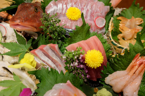 Iorirawfishsashimi5kinds