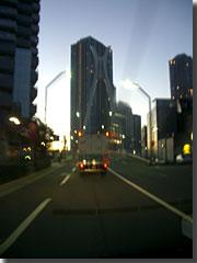 朝焼けと中央大橋 photo by OptioS