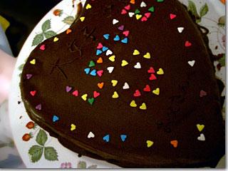 バレンタインのチョコレートケーキ  photo by OptioS