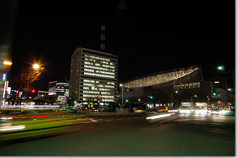 intersection photo by *istD 焦点距離16mm F値F/4.5 露出時間0.7秒 絞り優先