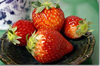 おっきなイチゴ ごちそうさまでした。photo by *istD 焦点距離 40mm F値 F/4 露出時間1/6秒