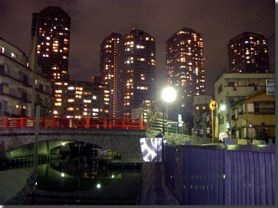 酔いどれスナップその3 佃小橋 この向こうに大切な柱が眠っています。 photo by OptioS
