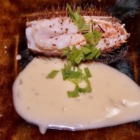 銀座 結絆(ゆいな)夏の活蟹食べ比べコース 毛蟹 鉄鍋焼き 和風ブールブランソース